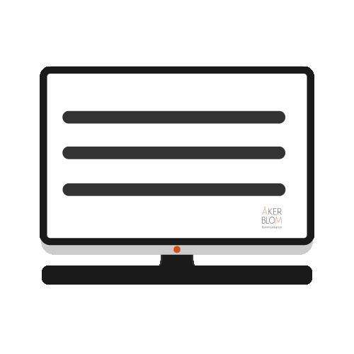 Ikon för webbtjänster. Bilden är gjord av Åkerblom Kommunikation 2021.